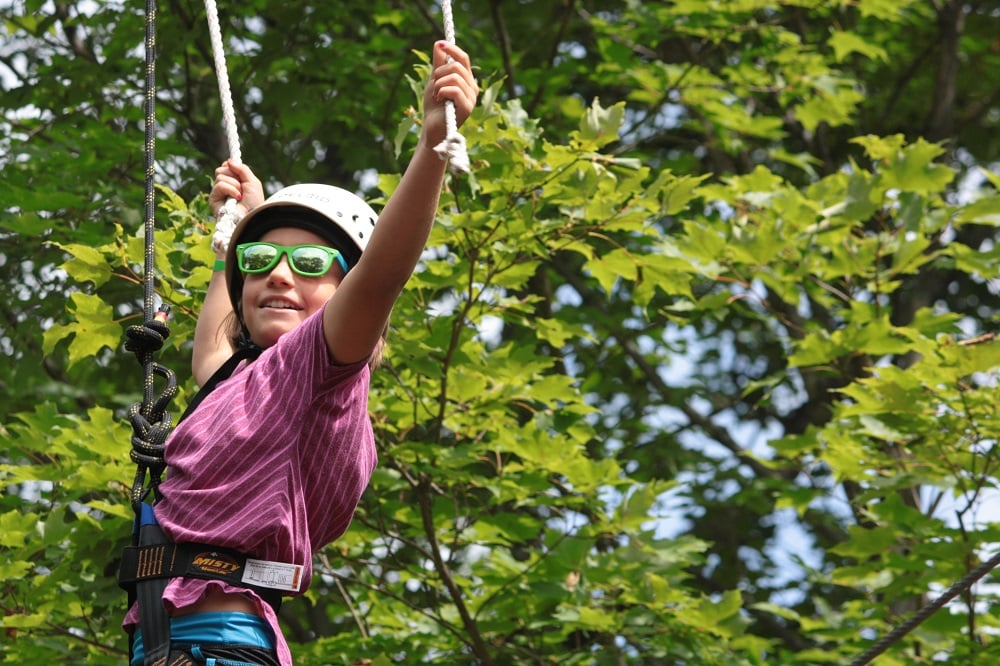 Facing fears up on the high ropes