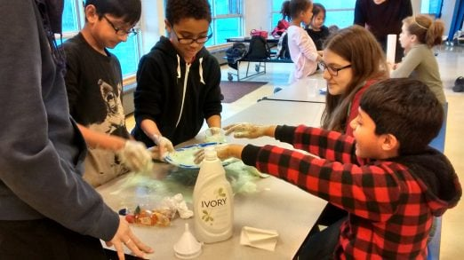 BLAST participants making Elephant Toothpaste