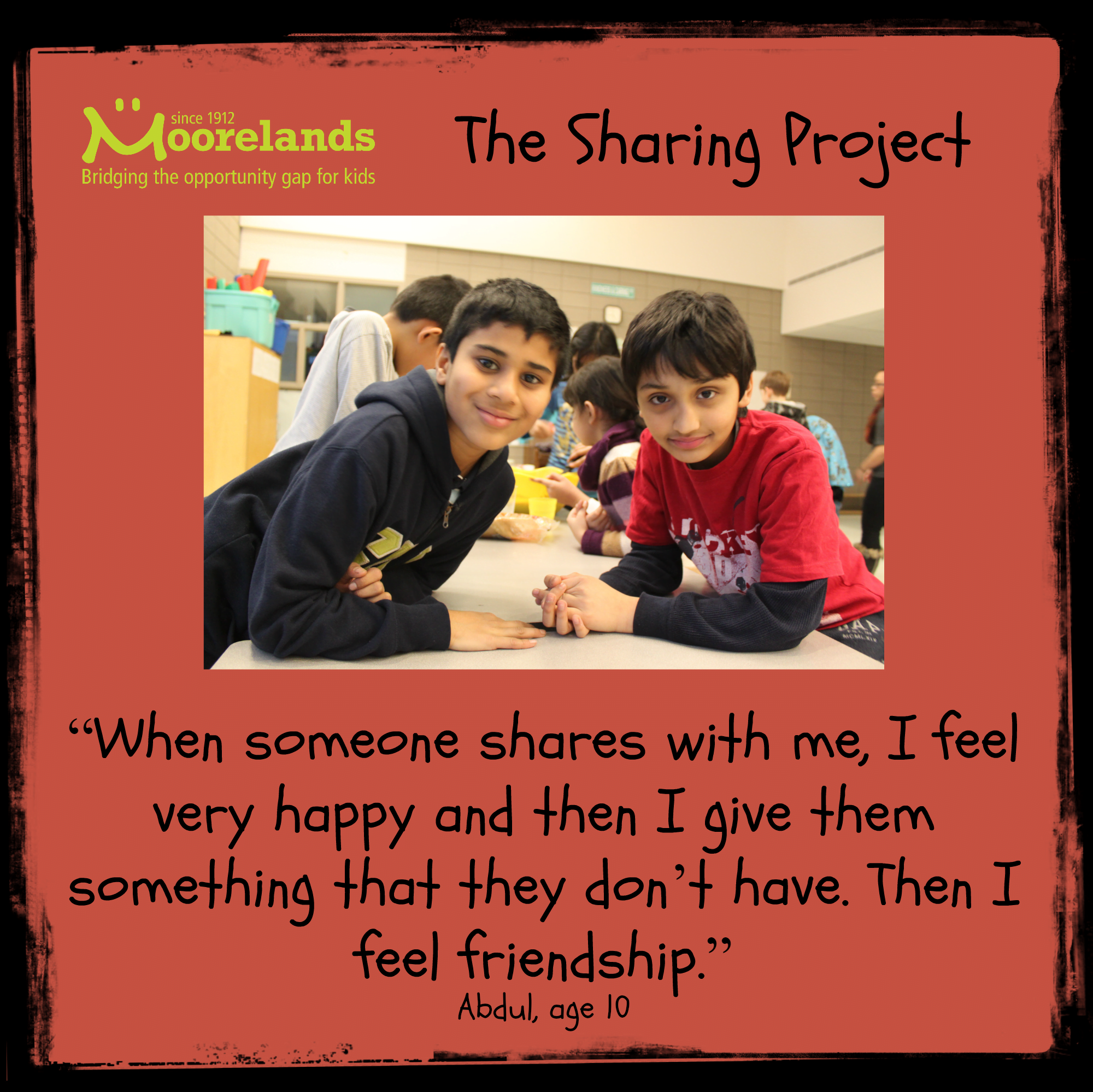 What does sharing mean to you?