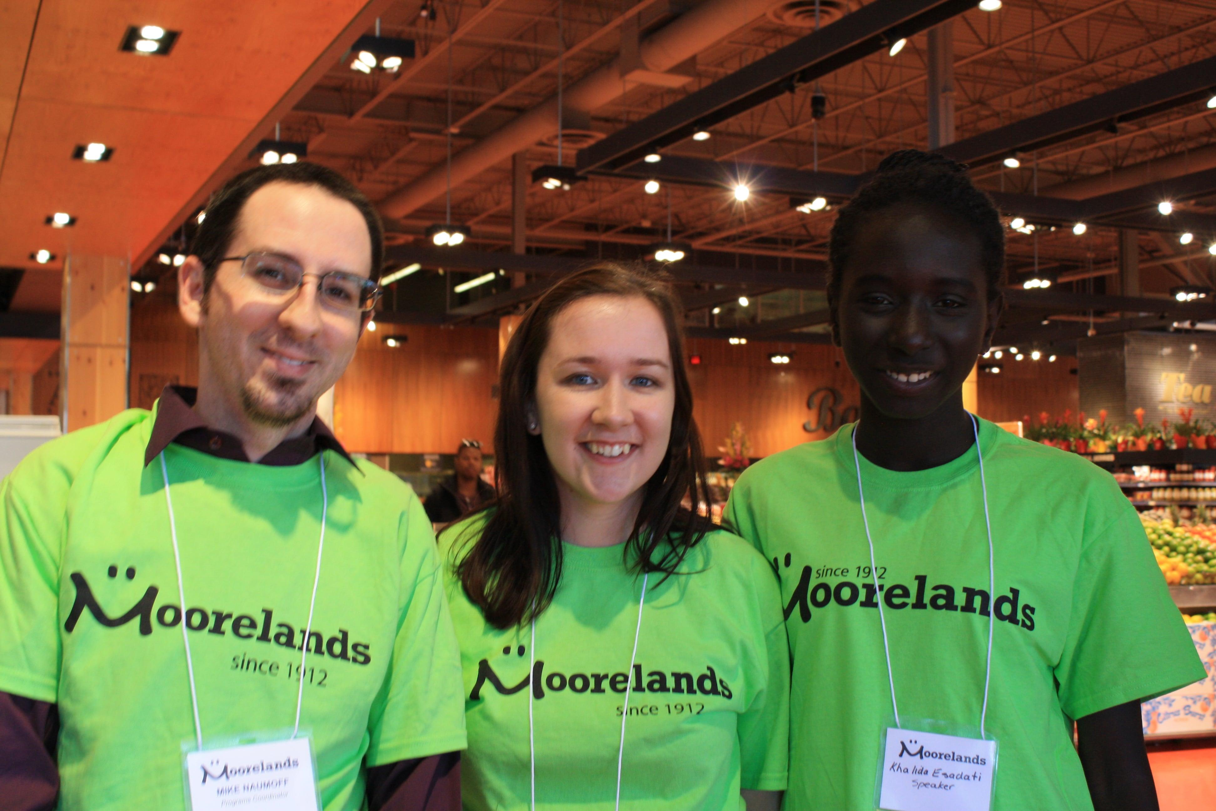 AGM 2016: Programs Coordinator, Mike Naumoff; Interim City Programs Manager, Jodi Thompson; with Youth Ambassador, Khalida Elsadati.
