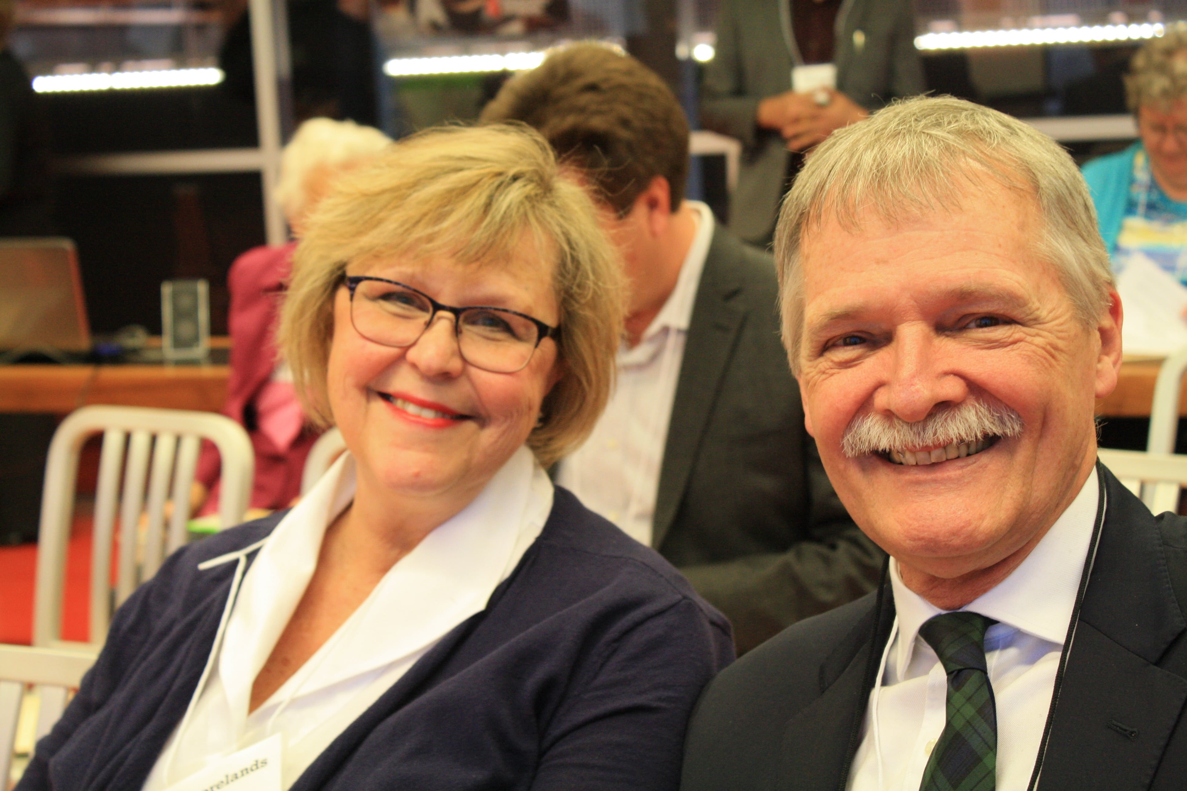 AGM 2016: Retiring Director, Judy Moore with Current Director, John Shelly.