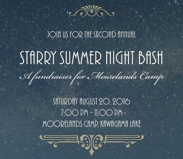 second annual starry summer night bash