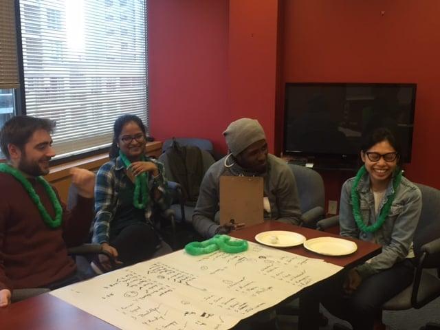 BLAST staff show off their teamwork and communication skills.