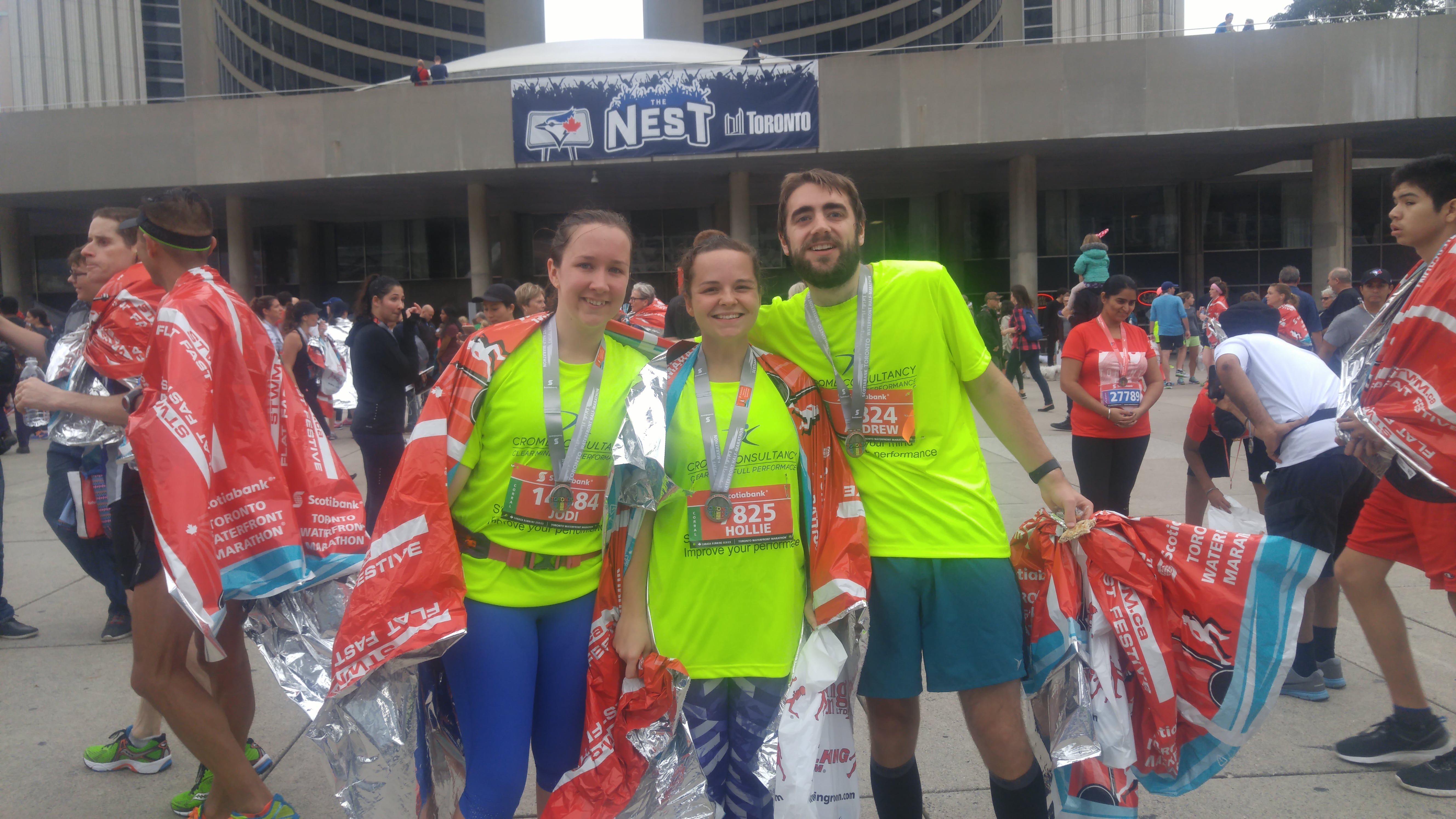 Runners after the STWM 2016