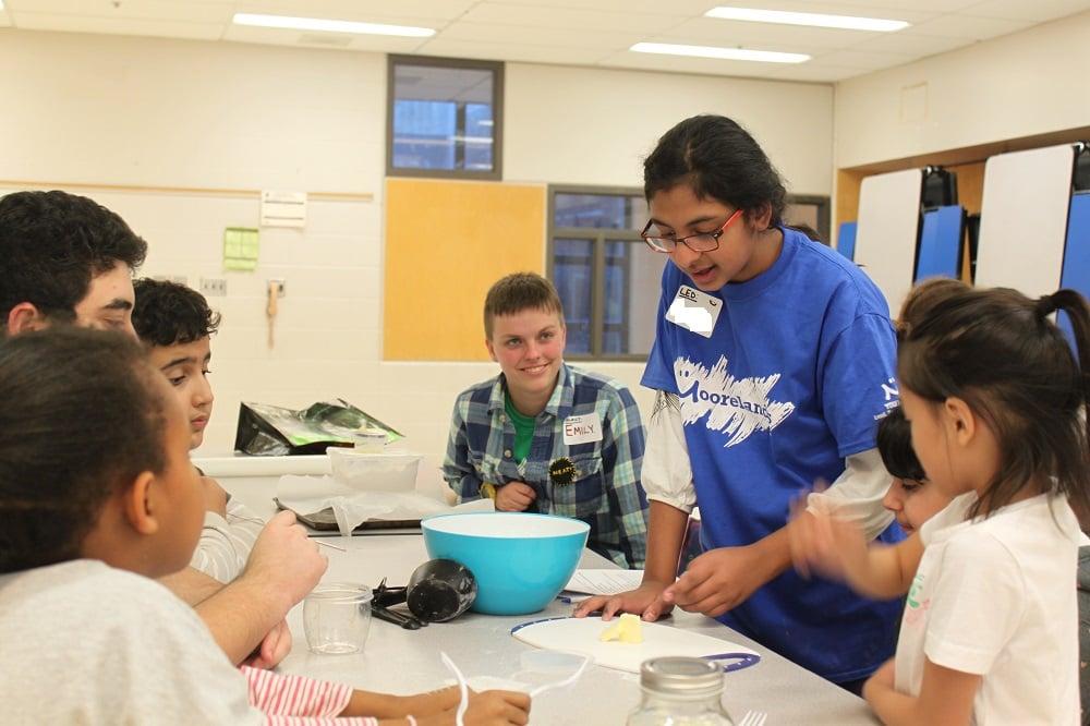 Leadership success: leading a baking activity at BLAST