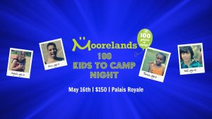 100 kids to camp night