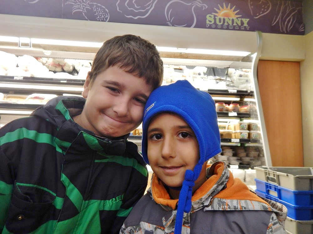 Life skills lessons at BLAST: two BLAST kids at the store.
