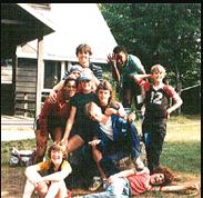 Karen Reid with her Cabin mates