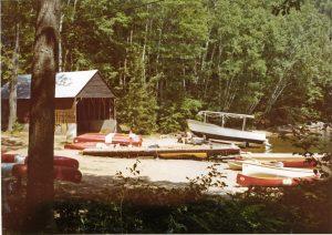 Canoe Bay at Moorelands Camp, 1972.