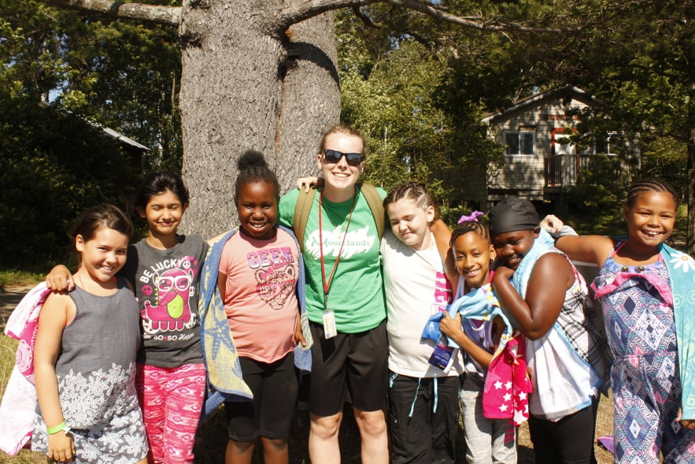 Group of campers posing for a picture