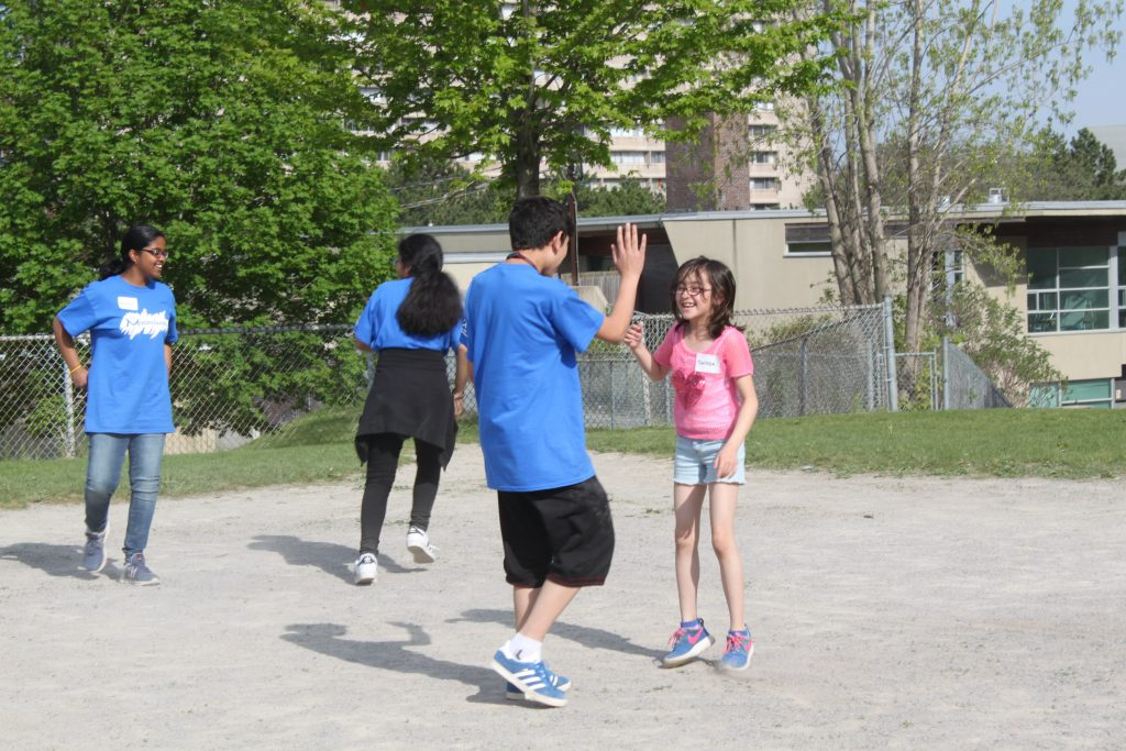 Moorelands after school program, kids playing on the pavement