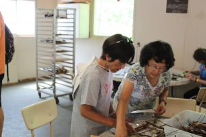 Christine and Carol relive memories at alumni day