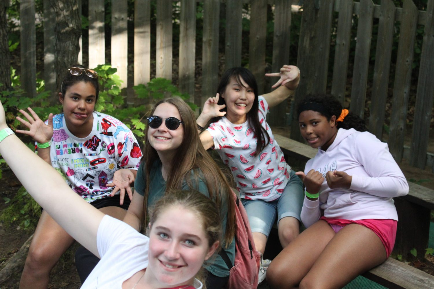 Your gifts to Moorelands - Camp girls hanging out