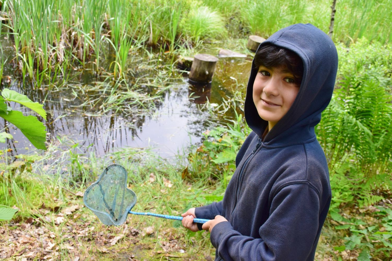 Your gifts to Moorelands - boy by the frogpond
