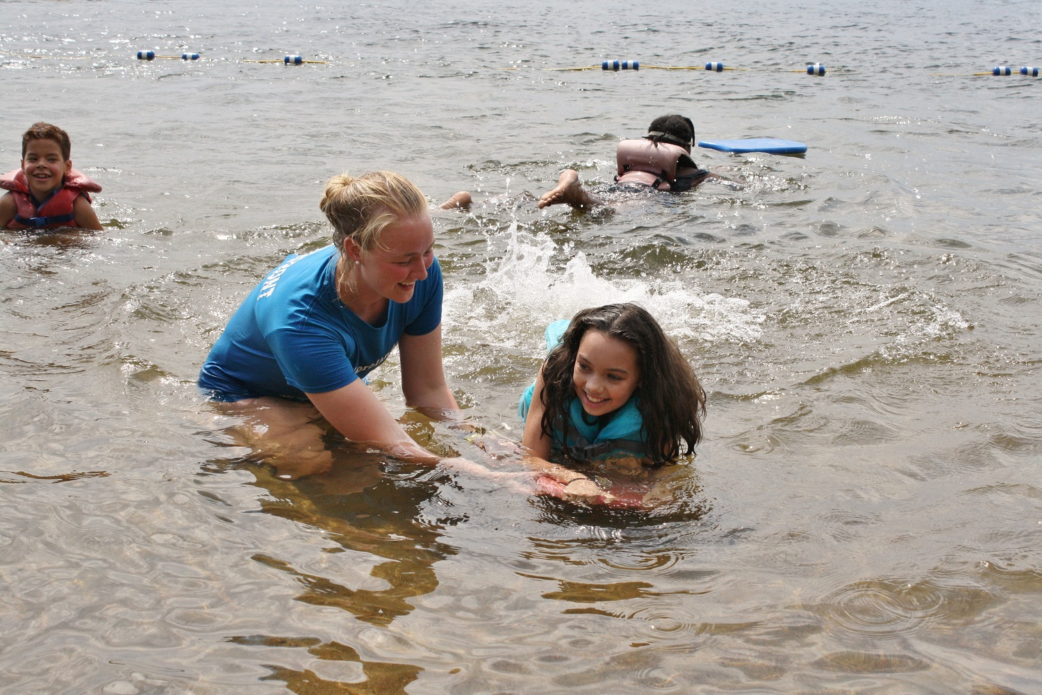your gifts to Moorelands - girl learning to swim
