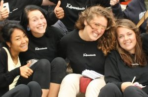 Lee with fellow camp staff in 2009