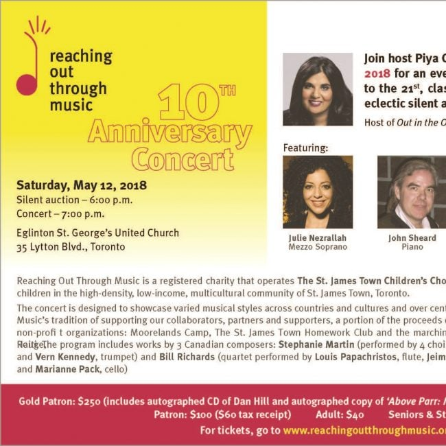 Reaching Out Through Music's 10th Anniversary Concert