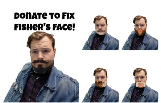 United Way Fundraiser Fix Fisher's Face