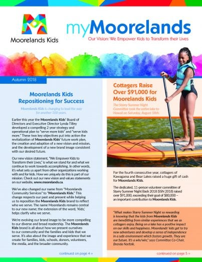 myMoorelands newsletter fall 2018