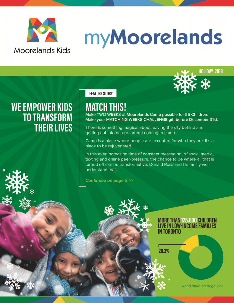 myMoorelands Holiday 2018