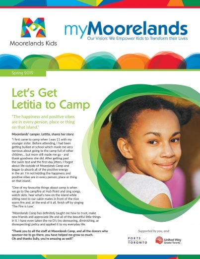 myMoorelands Newsletter Spring 2019