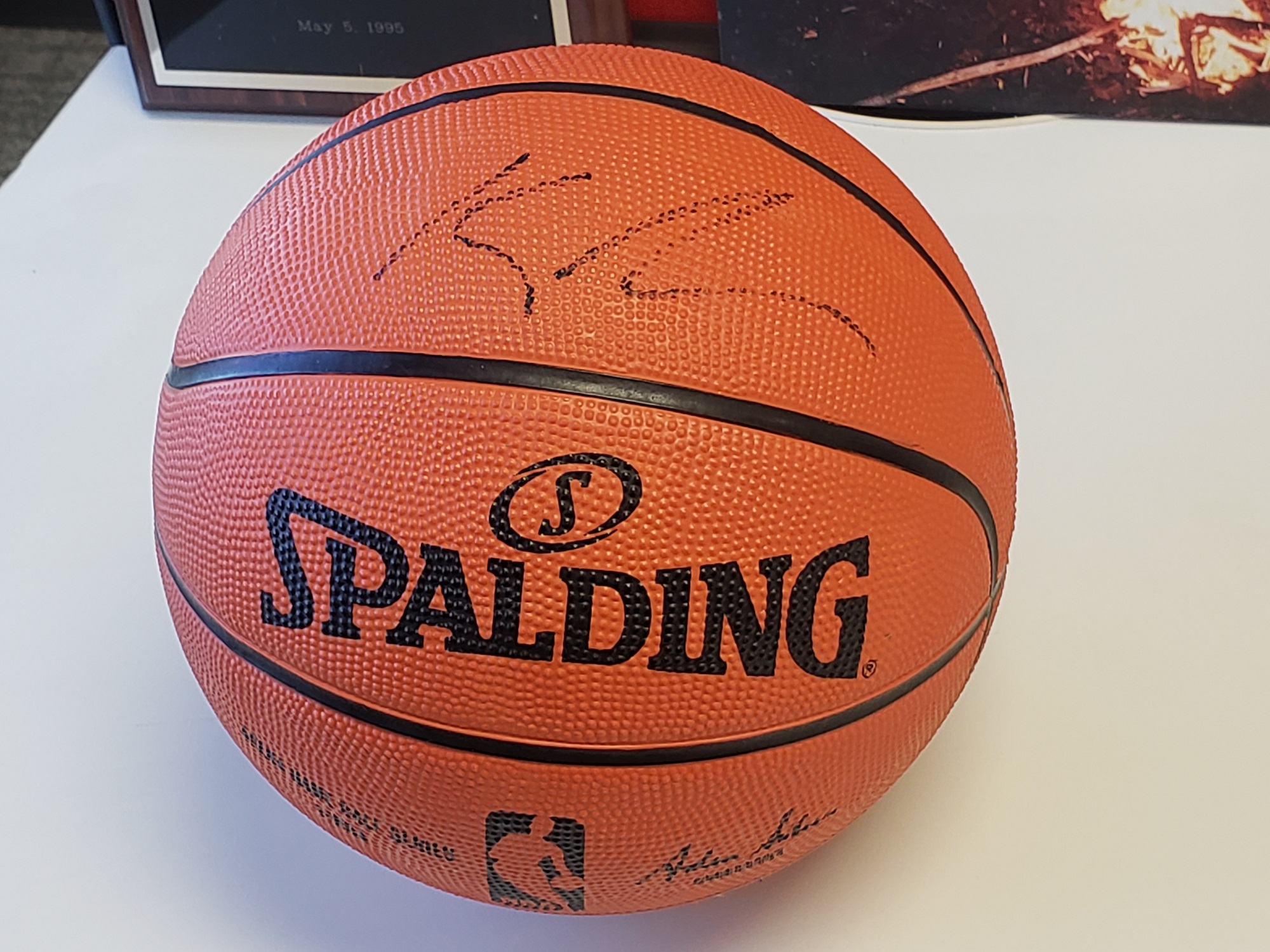win a signed kyle lowry basketball