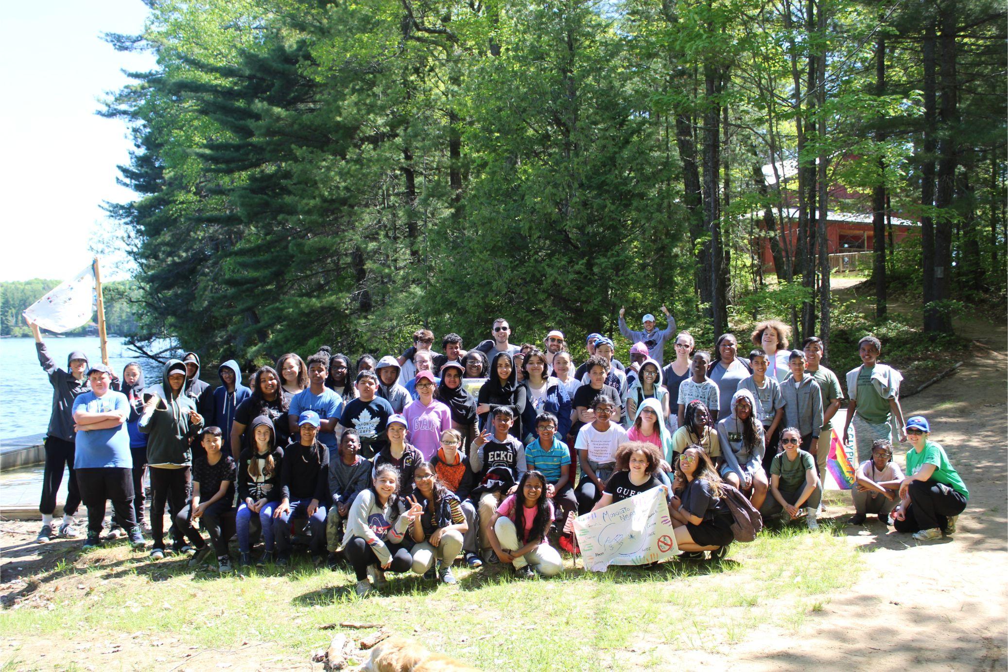 leadership retreat weekend group shot