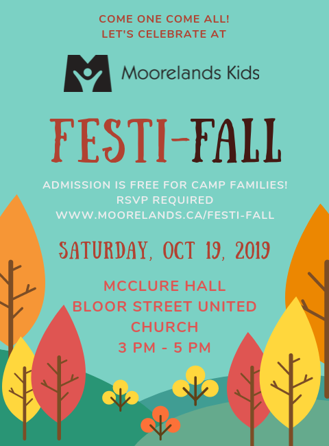 RSVP for Moorelands Kids' Festi-Fall 2019