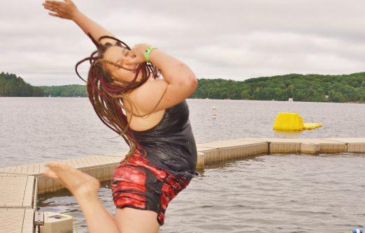 Sarah at camp