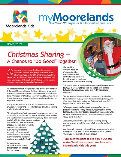 myMoorelands Holiday 2019