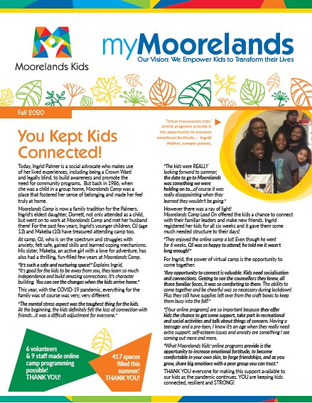 myMoorelands fall 2020