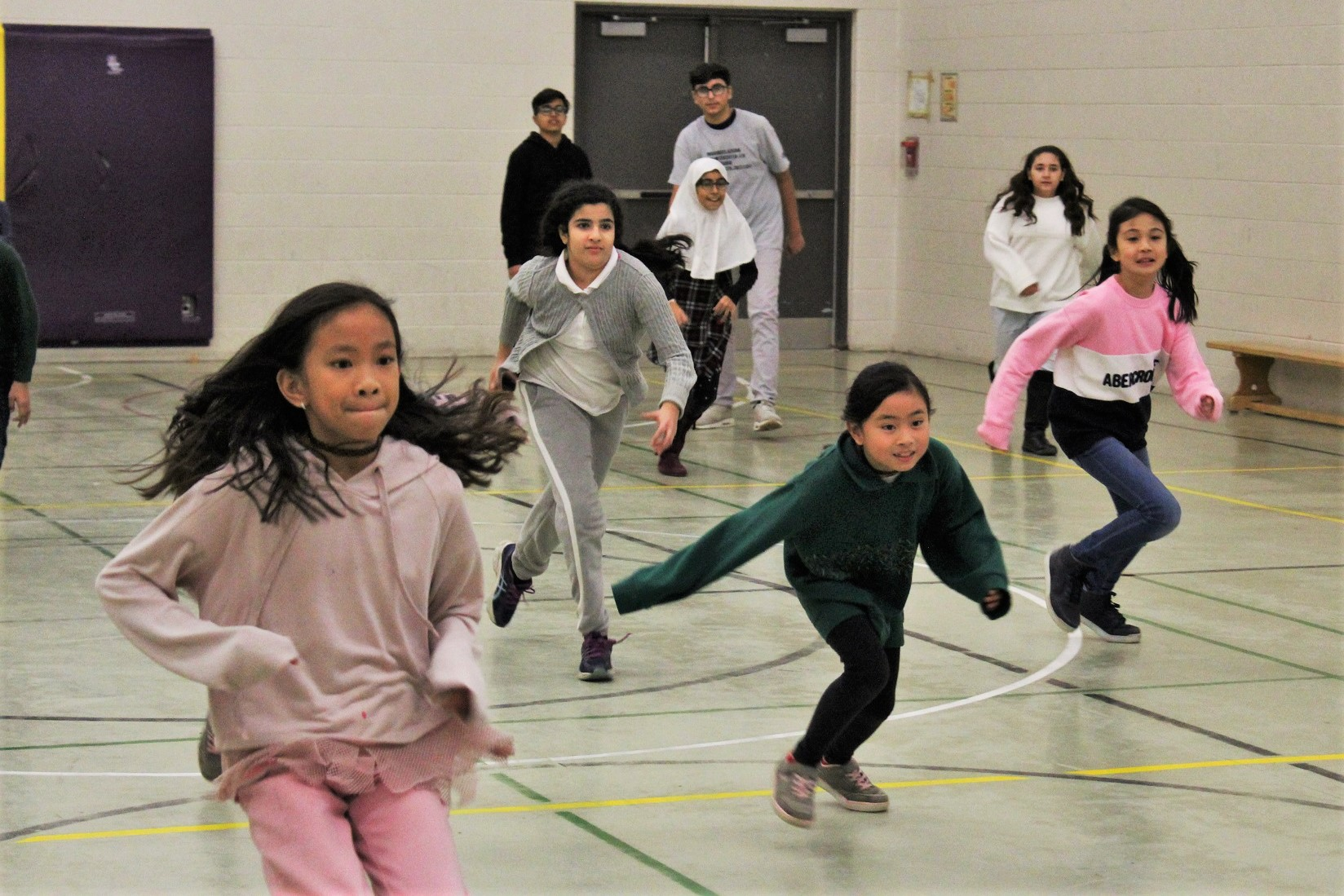 Kids stay active at indoors